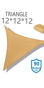 12x12x12 sun shade sail waterproof sun shade canopy square shade sail