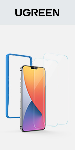 UGREEN 2 Pack Screen Protector for iPhone 12/12 Pro