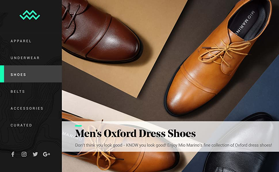 Mio Marino Oxford Dress Shoes for Men - Formal Leather Mens Shoes