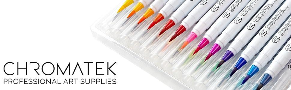 Chromatek Watercolor Real Brush Pens