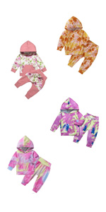 U/·nikaka Infant Baby Girl Clothes Newborn Long Sleeve Ruffle Cotton Tops+Floral Pants 3PCS