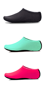 Kids,Womens and Mens Classic Barefoot Water Sports Skin Shoes Aqua Socks for Beach Swim Exercise