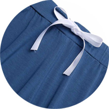 elastic drawstring nightwear set for female