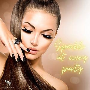 party eyelashes magnetic eyelash for teenagers party make up kit glitter eye lashes eyeliners