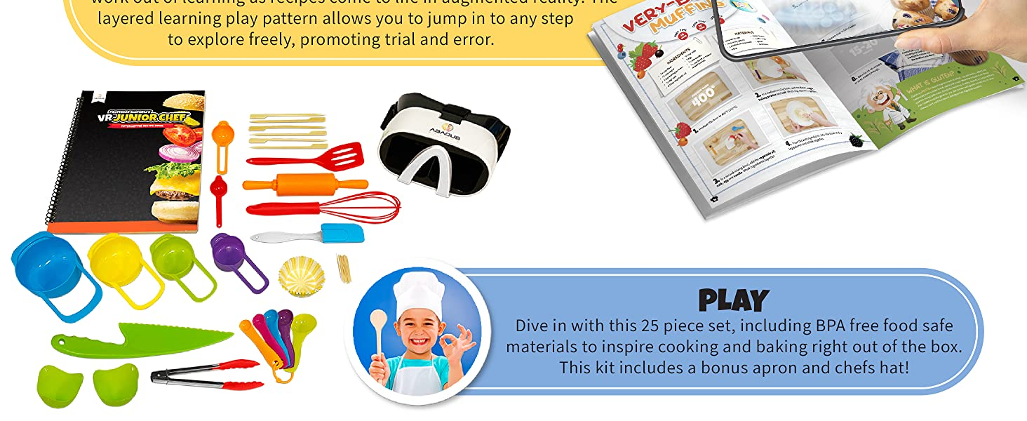 vr junior chef food science cooking kit for kids virtual reality abacus brands