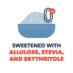 Allulose sweetened