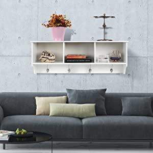 color blanco y lila 2 estanter/ía colgante para libros//DVD Estante cuadrado de pared Cube de EBTOOLS 17,5 x 10 x 17,5 cm 21,5 x 10 x 42,5 cm montaje en pared