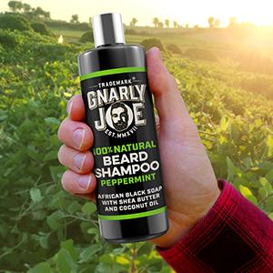 Gnarly Joe Peppermint Mens Beard Wash for Soft Beards