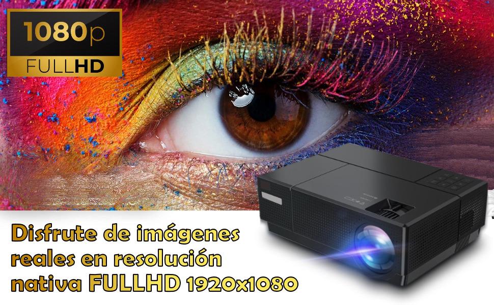 proyector 4k nativo, fullhd, cine en casa, full hd, portatil, lampara led, 90.000 horas, zoom digita