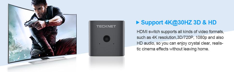 TECKNET HDMI Switch 3