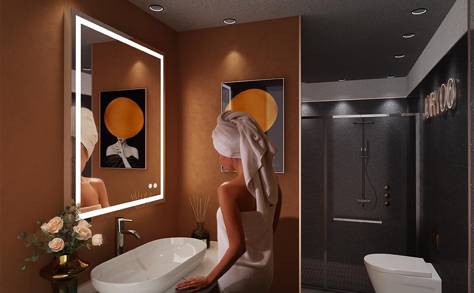 led bathroom mirror with light