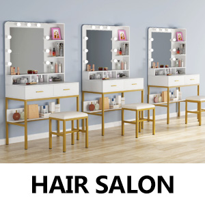 Bring style and sophistication to any space in any place with this elegant vanity set.