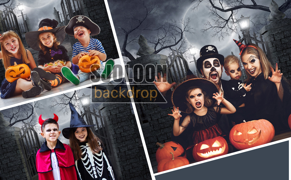 7x5ft Backdrops Halloween Night Cosplay Photography Backdrop Photo Props for Children Event LHFU546