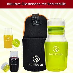 MINI PRESS Slow Juicer inkl. Glastrinkflasche | BPA frei