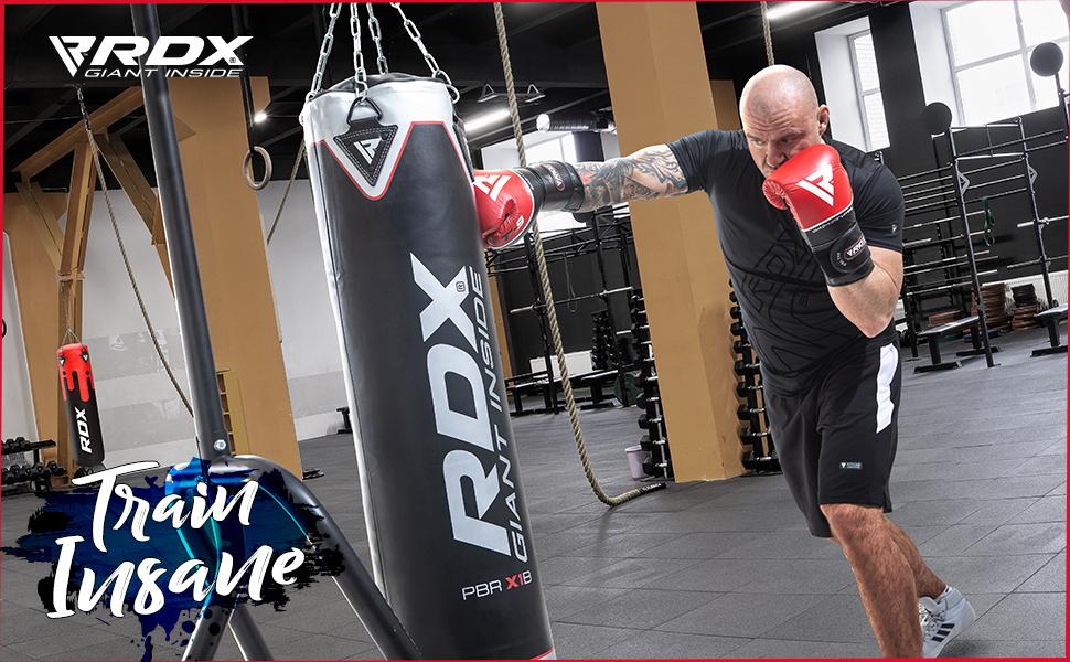 RDX Guantes de Boxeo para Entrenamiento y Muay Thai | Cuero Vacuno Mitones para Kick Boxing, Sparring | Boxing Gloves para Combate Training, Saco Boxeo: Amazon.es: Deportes y aire libre