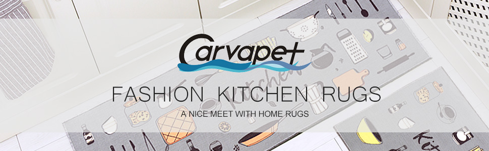 2 piece kitchen rug set