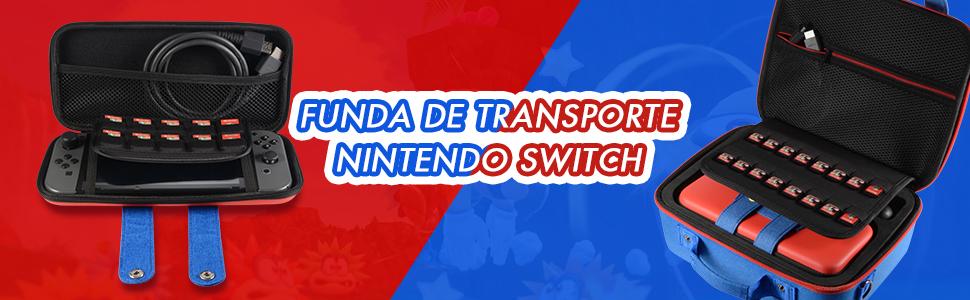 Funda de almacenamiento para Nintendo Switch,lindo y de lujo, Estuche Dura de Transporte para Switch Consola, Base de Conmutador, Joy-con Grip, Pro Controller, 26 Cartuchos de Juego y Otros Accesorios: Amazon.es: Videojuegos