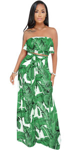 Tropical 2 Piece Outfits