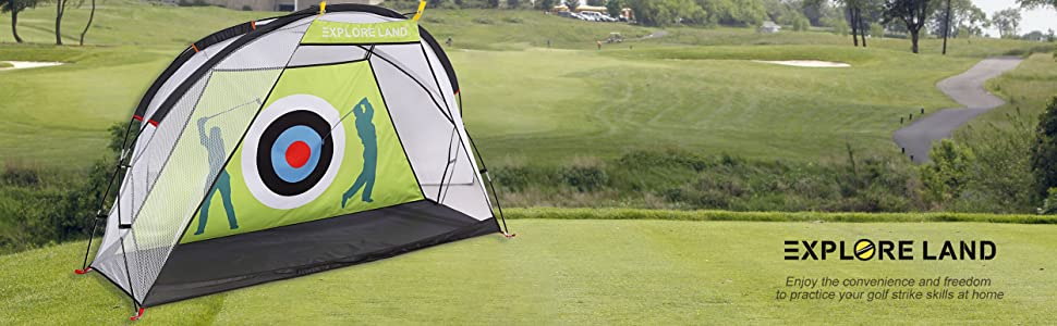 golf practice tent