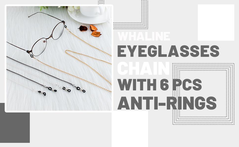 3 Pieces Eyeglasses Chain