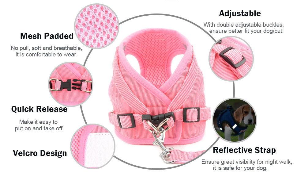 no pull dog harness adjustable reflective