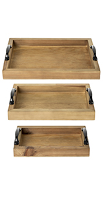 Rustic Wood Serving Trays