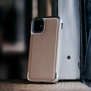 iphone 11 pro max defense prime xdoria leather panel wraps around aluminum top bottom frame luxury