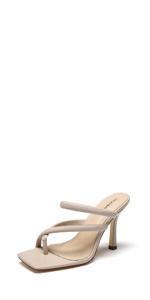 Cross thong heel slipper