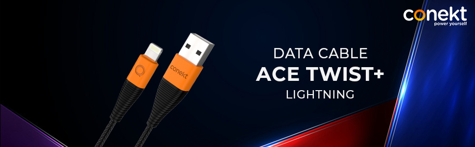 Conekt ACE TWIST+ Lightning Charging Cable