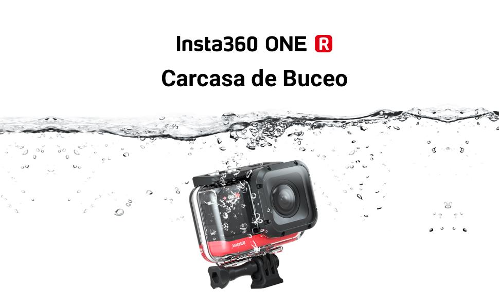 Insta360 One R C/ámara de Acci/ón Accesorios para Deportes Al Aire Libre Adaptador de micr/ófono
