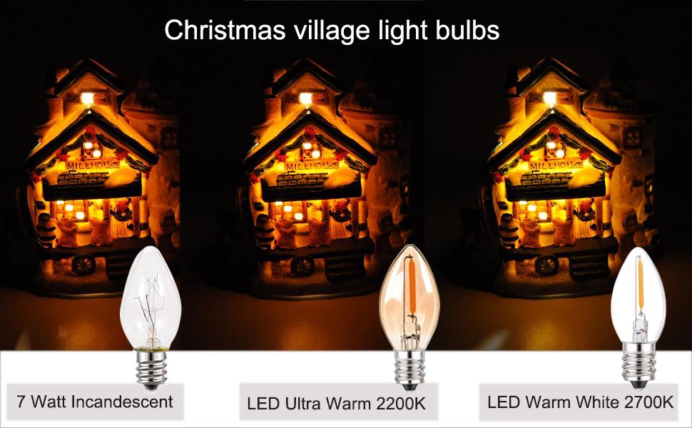 Christmas village light bulbs