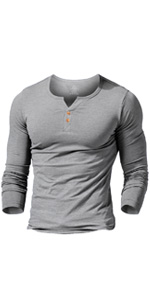 Long Sleeve Henley Shirts