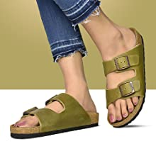 dual strap sandals for women