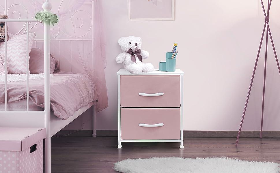 pink nighstand
