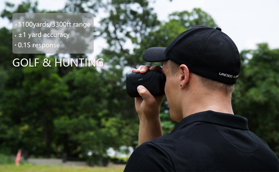 golf hunting rangefinder 1100yard