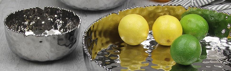 Millenium; Silver; Salad Bowl