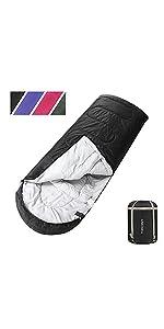 ASHOMELI Camping Sleeping Bags For Adults Dark Gray