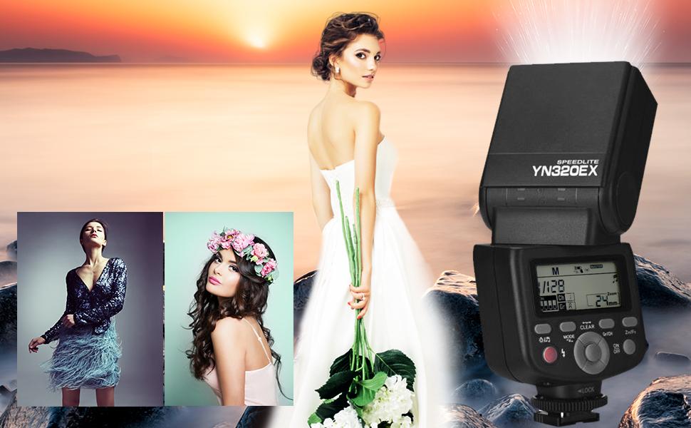 Yongnuo YN320EX Flash Speedlte 1//8000s for Sony a7 a7ii a6000 A7R-II A7R a6300 a6500