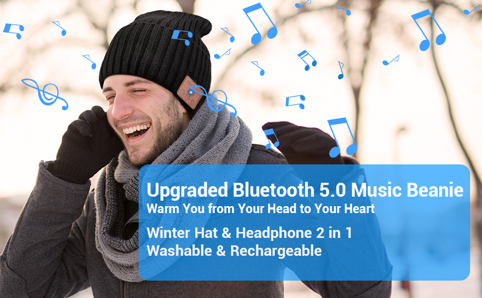 Add Something Amazing in Winter with EverPlus Bluetooth Beanie Hat.