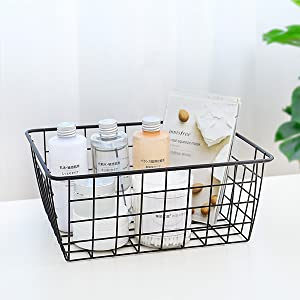 wire baskets for bathroom
