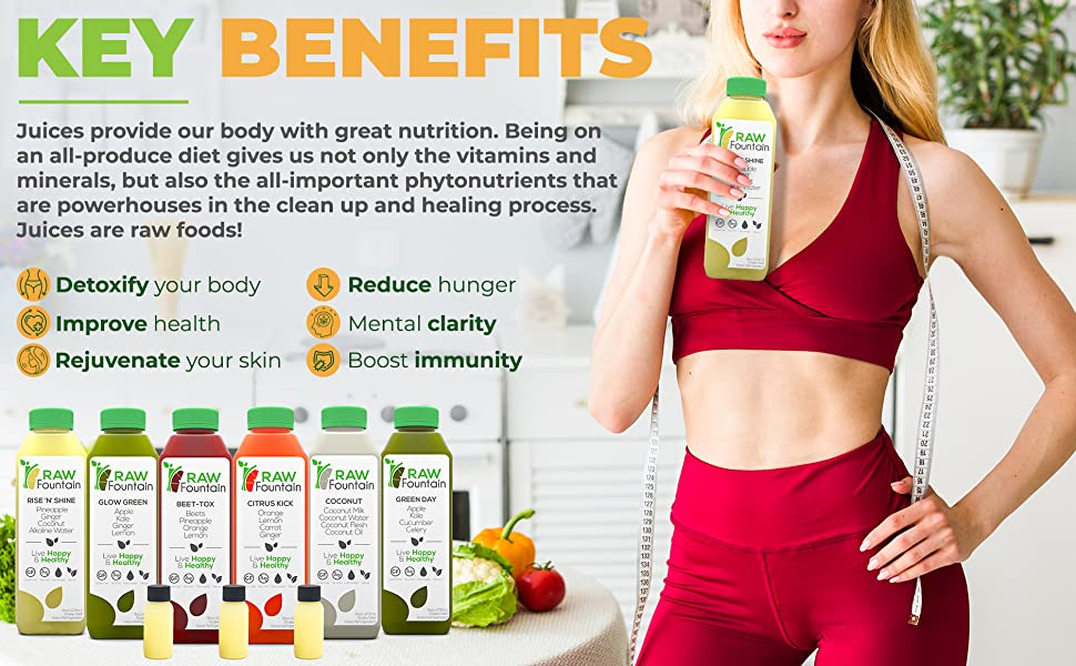 Juice Cleanse Cold Pressed Natural Raw Vegan Vegetarian Detox Weight Loss