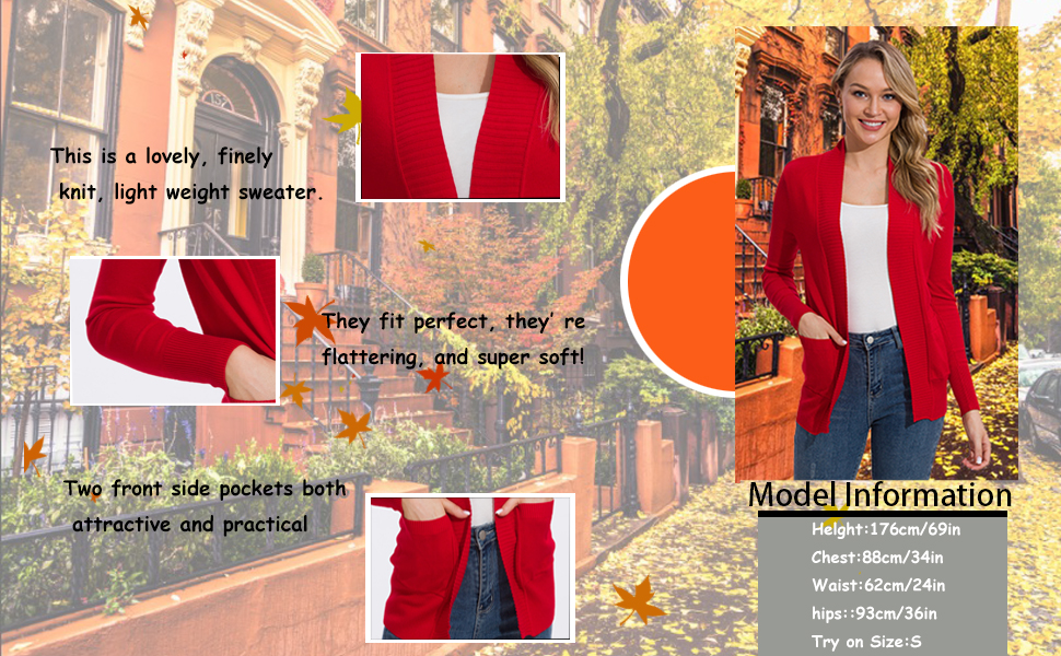 Cardigans for Women with Pockets