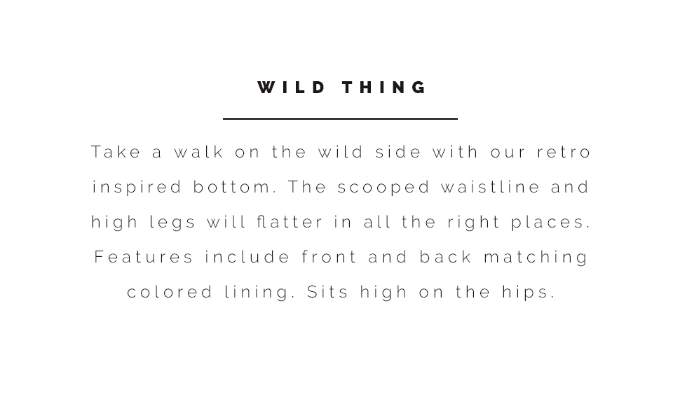 Sunsets Wild Thing information and style description.