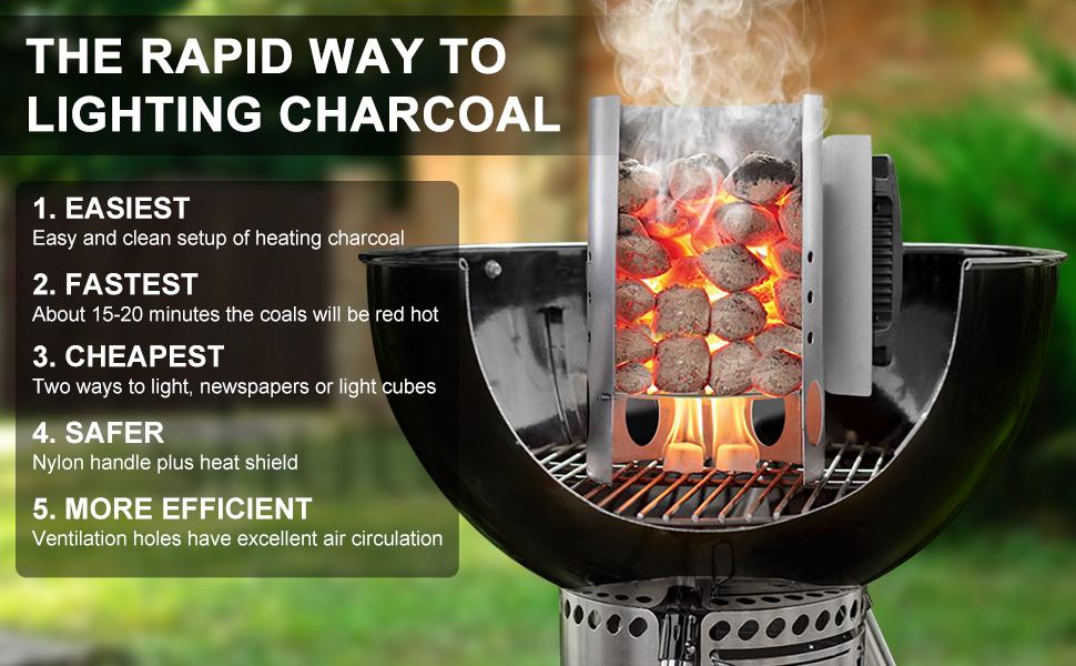 Charcoal Lighter Grill Lighter BBQ Coal Lighter Fireplace Lighter FAST