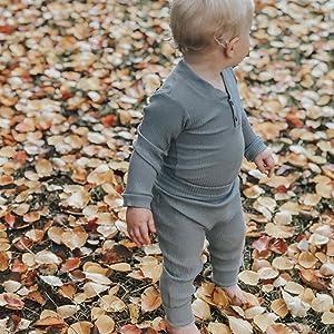 toddler infant baby clothing set solid color