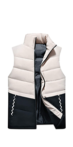 Men's Outdoor Casual Stand Collar Padded Vest Coats