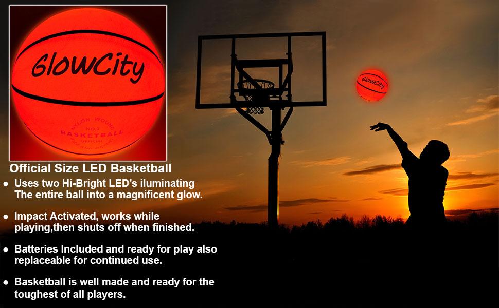 Leuchtender Basketball Mit Zwei Hochhellen Leds Offizielle Größe Und Gewicht Spielzeug