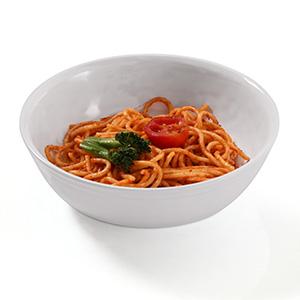 melamine bowl white