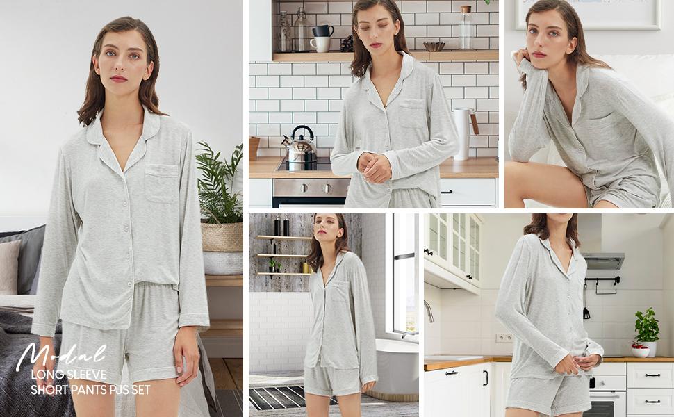 pajamas for women shorts set