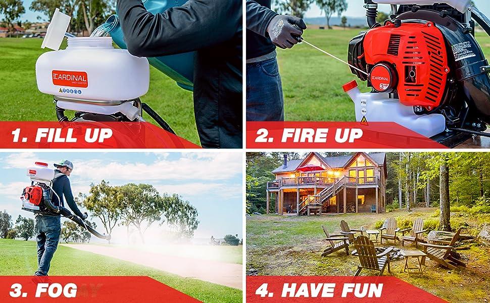 backpack fogger bug spray pump sprayer garden stihl blower mosquito leaf talstar professional insect